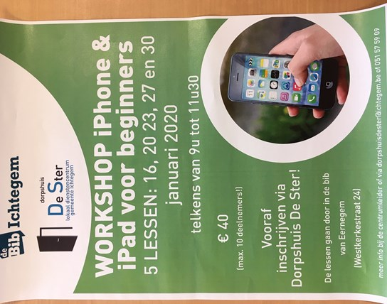 Workshop iPhone en iPad voor beginners - 5 lessen